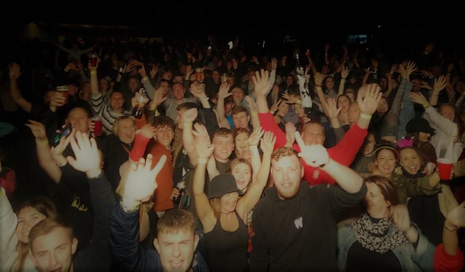The Bracebridge Heath Cricket Club crowd partying hard.